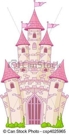 Illustration of Illustration of a Magic Fairy Tale Princess Castle vector art, clipart and stock vectors. Castle Clipart, Castle Vector, Chateau Princesse Disney, Wall Stickers Princess, Disney Cinderella Castle, Castle Illustration, Castle Pictures, Cute Fairy, Fairytale Castle