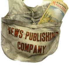 Vintage Newspaper Bag Currier Bag Paperboy by CallMeClever on Etsy, $48.00