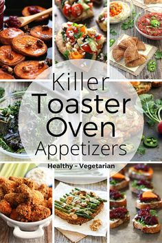 Get your snack on and still feel great with these healthy toaster oven appetizers. Party food | healthy | game day snacks | toaster oven