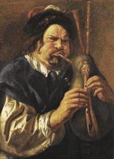 Jacob Jordaens (Flemish artist, 1593-1678) Self-Portrait with Bagpipes