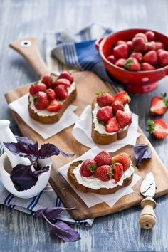 Strawberry Crostini