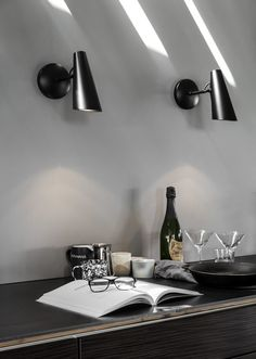 Birdy is a table, wall and floor lamp series designed in in a modernist style. The lamp series was produced and sold by the Norwegian electricity company Sønnico (Oslo) for many years. In 1954 the table lamp, then known as was awarded the Scandinavian Cabin, Scandinavian Design, A Table, Table Lamp, Turbulence Deco, Luxury Vinyl, Interior Paint, Interior Design, Contemporary Interior