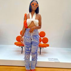 Chill Outfits, Summer Outfits, Casual Outfits, Fashion Outfits, Pretty Outfits, Cute Outfits, Street Style Edgy, 2000s Fashion, Black Women Fashion