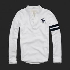 Abercrombie Fitch Mens Long Sleeve T-shirts White