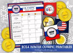 SINGING TIME IDEA: Free 2014 Winter Olympic Printables - these would be great for a Primary Singing Time Olympic activity!