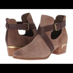 "Isola ""Davan"" Wraparound Strap Leather Bootie BRAND NEWStep up your style with soft suede, cool cutouts and sexy straps. The classic low boot profile gets a contemporary spin via unexpected details you're sure to love. Isola Shoes Ankle Boots & Booties"