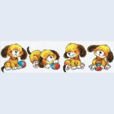Playing Puppies - counted cross-stitch kit  RTO