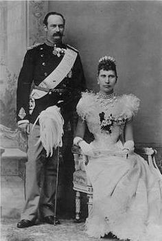 Their Royal Highnesses The Crown Prince Frederik and Crown Princess Louise of Denmark. Married: July 28, 1869