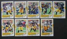 2020 Donruss Pittsburgh Steelers Veterans Base Team Set of 9 Football Cards #PittsburghSteelers