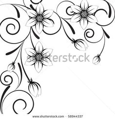stock vector : vector texture with flowers