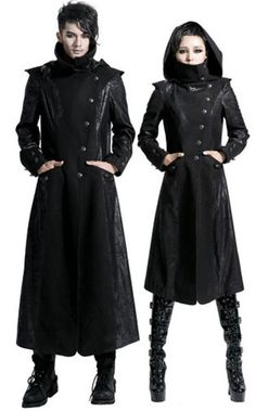 NEW! PUNK Gothic Unisex Rock Heavy Metal long Jacket Coat FREE SHIP | eBay