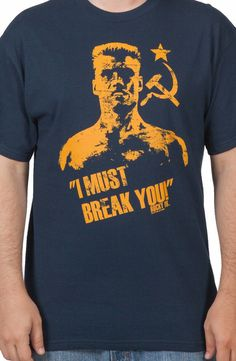 Navy Drago Rocky Shirt: 80s Movies Rocky T-shirt