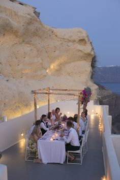 candle lit dinner on the coast of Santorini Greece anyone?