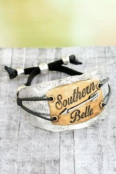 "Add this ""Southern Belle"" bracelet to your jewelry collection! #ewamboutique #southernbelle #southernjewelry"