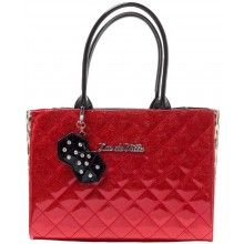 LUX DE VILLE LUCKY ME SMALL TOTE RED SPARKLE