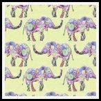 free hippy elephant backing paper pack yellow