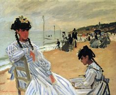 Claude Monet, On the Beach at Trouville, 1871
