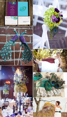 25+ Stylish Peacock Wedding Ideas | Emmaline Bride® This would fit an arabian bridal theme wonderfully!