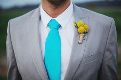 Bright coloured ties #bright #wedding #groomsmen