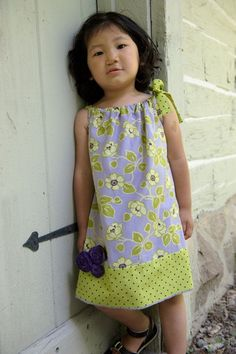 pillow case (pillowcase) dress for little girls (toddlers) 4T-5T and a tunic top for a girls 6