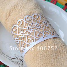 Damask serviette rings