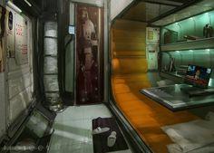 Cabin, Mikhail Rakhmatullin on ArtStation at https://www.artstation.com/artwork/cabin