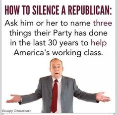 How to silence a republican...