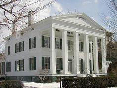 Greek Revival home in Saratoga, New York - Photo © Jackie Craven