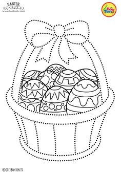 Easter Tracing and Coloring Pages for Kids - Free Preschool Printables and Worksheets, Fine Motor Skills Practice - Easter bunny, eggs, chicks and more on BonTon TV - Coloring books Free Preschool, Preschool Printables, Preschool Crafts, Easter Crafts, Easter Printables, Easter Coloring Pages, Coloring Sheets For Kids, Colouring Pages, Coloring Books