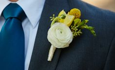 Ranunculus boutonniere, September, 2013 photography by Courtney Davidson Photography