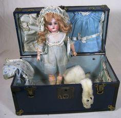 Antique Simon Halbig K*R German Bisque Head Doll Factory Original Presentation S