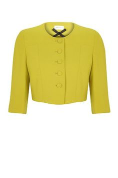Chatreuse Green Cropped Jacket