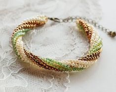 Beaded Bracelets earrings and more by skbeadedboutiqueshop on Etsy Bohemian Style Jewelry, Handmade Items, Handmade Gifts, Bead Weaving, My Etsy Shop, Etsy Seller, Beaded Bracelets, Trending Outfits, Unique Jewelry