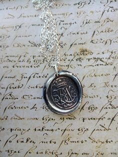 wax seal pendant, crown, French silver, crowned letter, Royal, Heraldic, silver, Royal crown, Ann Boelyn, Maria, QueenBee, B, M, ornate, Wax Seal Ring, Heart Crown, Antique Wax, Mens Silver Rings, Crown Royal, Queen Bees, Wax Seals, Fashion Jewelry, Monogram