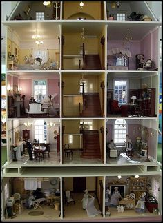 Harrods Doll House. The closest I've seen to an actual Victorian home layout.
