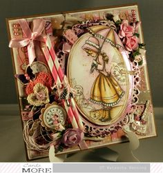 Birthday card in pink-brown using a image by Whiff of Joy http://nataschas-blog.blogspot.de/2016/03/happy-wishes-in-rosa-braun.html