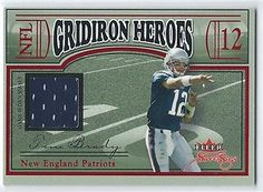 2004 Fleer Sweet Sigs Tom Brady Gridiron Heroes Game Worn Jersey Patch Card NFL $19 http://stores.ebay.com/vintage-assets-llc