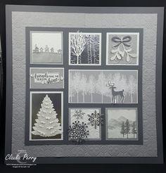 Stamping in Columbus, GA: Winter Page Sampler Christmas Shadow Boxes, 3d Christmas, Christmas Frames, Stampin Up Christmas, Box Frame Art, Shadow Box Frames, Diy Frame, Scrapbooking, Scrapbook Cards