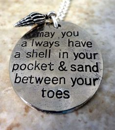 Hand+Stamped+Beach+Necklace++May+You+Always+Have+A+by+RoseCreekToo,+$20.00