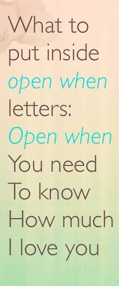 Open when letters for your boyfriend. Ideas for open when letters and what to put inside them. Valentine's Day ideas for him