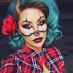 Gangsta Clown Makeup Idea for Halloween