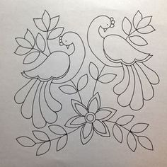 Awesome Most Popular Embroidery Patterns Ideas. Most Popular Embroidery Patterns Ideas. Mexican Embroidery, Crewel Embroidery, Hand Embroidery Patterns, Applique Patterns, Applique Quilts, Beaded Embroidery, Quilt Patterns, Quilled Creations, Madhubani Painting