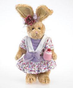 Loving this Flower Dress Bunny Plush Figurine on #zulily! #zulilyfinds