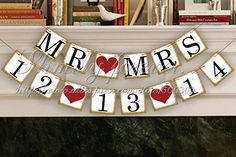 Free Shipping! MR&MRS Save The date banner Wedding Sign For Wedding Party Decorations on Aliexpress.com | Alibaba Group