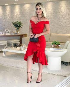 Como combinar vestido Vermelho