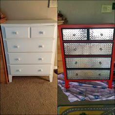 ms needed: Dresser, any size Paint roller Medium paint brush Red paint ms needed: Dresser, any size Paint roller Medium paint brush Red paint