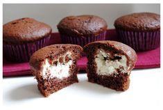 tuteloguisas.com - Muffins de chocolate rellenos de crema de queso