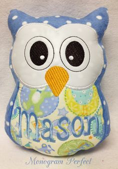 Personalized Monogrammed Baby Boy Stuffed Owl by MonogramPerfect, $24.95