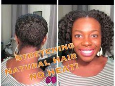 277| Stretching Natural Hair No Heat (Bunning Method) VR