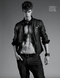 Marko Martinovic Stuns in Leather for August Man